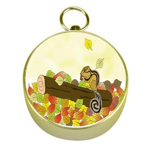Squirrel  Gold Compasses