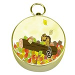 Squirrel  Gold Compasses Front