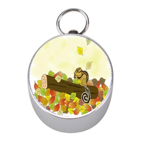 Squirrel  Mini Silver Compasses