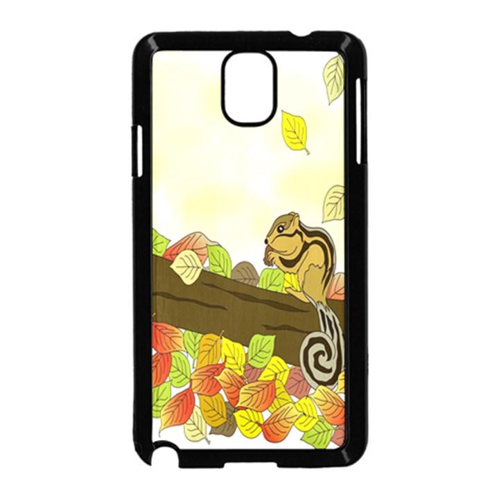 Squirrel  Samsung Galaxy Note 3 Neo Hardshell Case (Black)