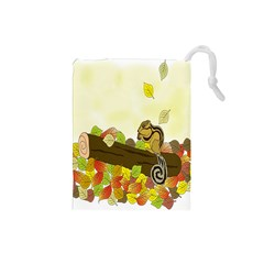 Squirrel  Drawstring Pouches (Small)