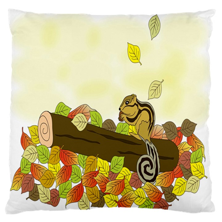 Squirrel  Large Flano Cushion Case (One Side)