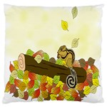 Squirrel  Large Flano Cushion Case (Two Sides) Back