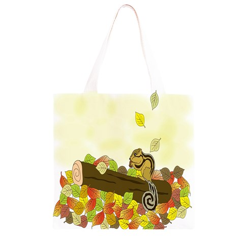 Squirrel  Grocery Light Tote Bag