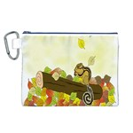 Squirrel  Canvas Cosmetic Bag (L) Front
