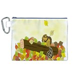 Squirrel  Canvas Cosmetic Bag (XL) Front