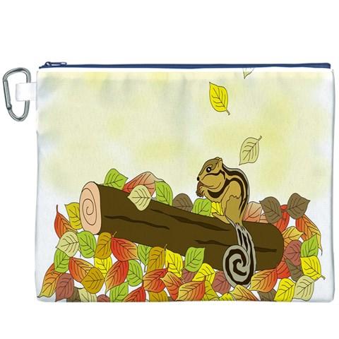Squirrel  Canvas Cosmetic Bag (XXXL)