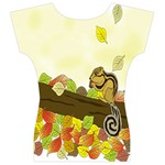 Squirrel  Women s V-Neck Cap Sleeve Top Back