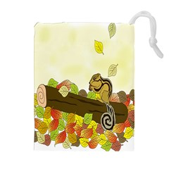 Squirrel  Drawstring Pouches (Extra Large)