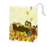 Squirrel  Drawstring Pouches (Extra Large) Front
