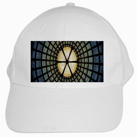 Stained Glass Colorful Glass White Cap
