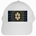 Stained Glass Colorful Glass White Cap Front