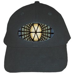 Stained Glass Colorful Glass Black Cap