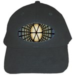 Stained Glass Colorful Glass Black Cap Front