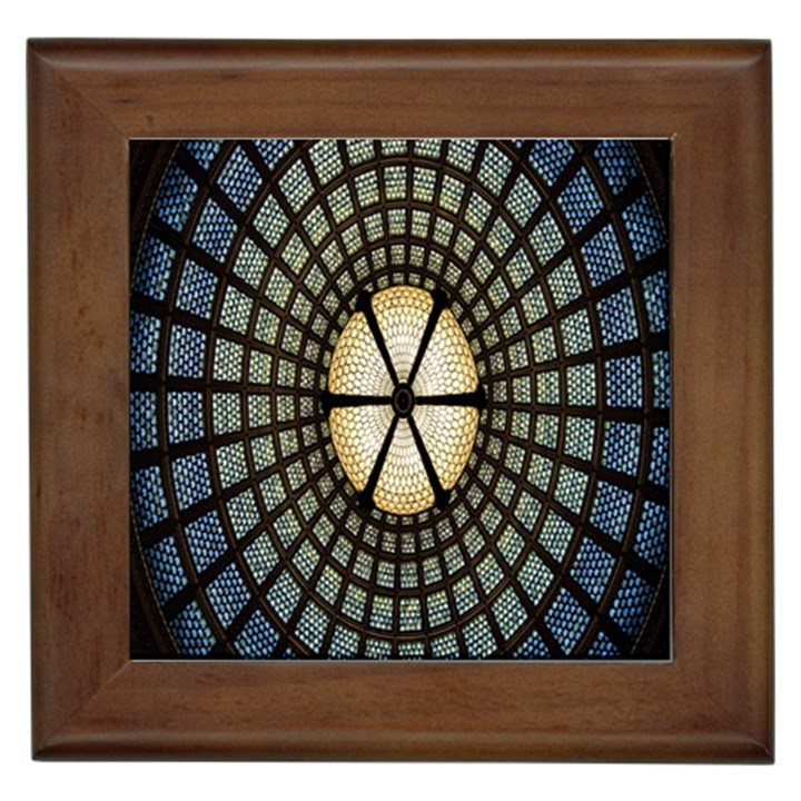 Stained Glass Colorful Glass Framed Tiles