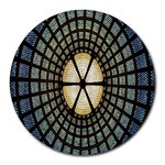 Stained Glass Colorful Glass Round Mousepads Front