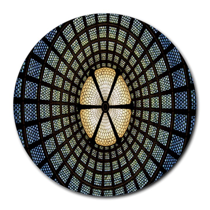 Stained Glass Colorful Glass Round Mousepads