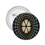 Stained Glass Colorful Glass 2.25  Buttons Front