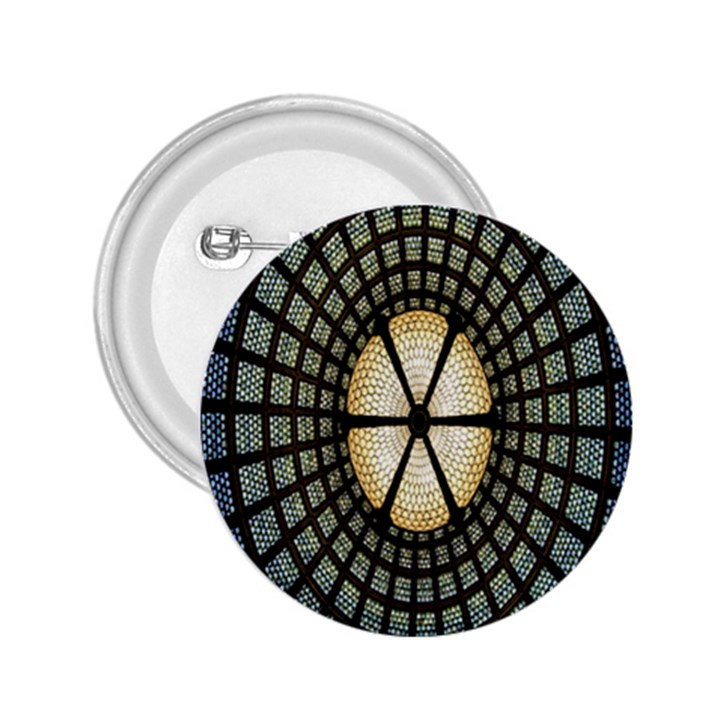 Stained Glass Colorful Glass 2.25  Buttons
