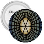 Stained Glass Colorful Glass 3  Buttons Front