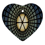 Stained Glass Colorful Glass Ornament (Heart)  Front
