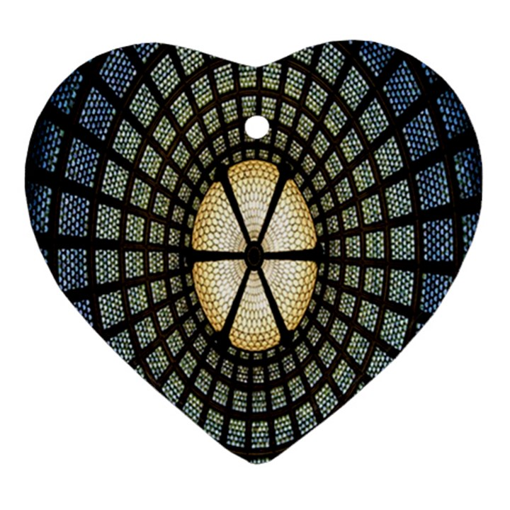 Stained Glass Colorful Glass Ornament (Heart)