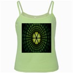 Stained Glass Colorful Glass Green Spaghetti Tank Front