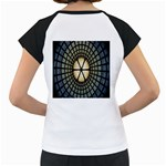 Stained Glass Colorful Glass Women s Cap Sleeve T Back