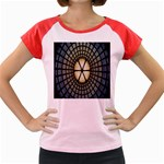 Stained Glass Colorful Glass Women s Cap Sleeve T-Shirt Front
