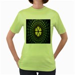 Stained Glass Colorful Glass Women s Green T-Shirt Front