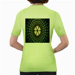 Stained Glass Colorful Glass Women s Green T-Shirt Back