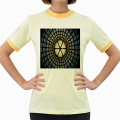 Stained Glass Colorful Glass Women s Fitted Ringer T-Shirts