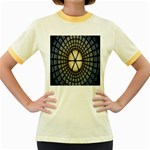 Stained Glass Colorful Glass Women s Fitted Ringer T-Shirts Front