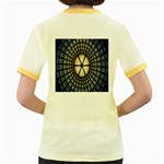 Stained Glass Colorful Glass Women s Fitted Ringer T-Shirts Back