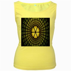 Stained Glass Colorful Glass Women s Yellow Tank Top