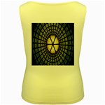 Stained Glass Colorful Glass Women s Yellow Tank Top Back