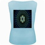 Stained Glass Colorful Glass Women s Baby Blue Tank Top Back
