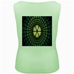 Stained Glass Colorful Glass Women s Green Tank Top Back
