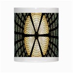 Stained Glass Colorful Glass White Mugs Center