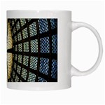 Stained Glass Colorful Glass White Mugs Right