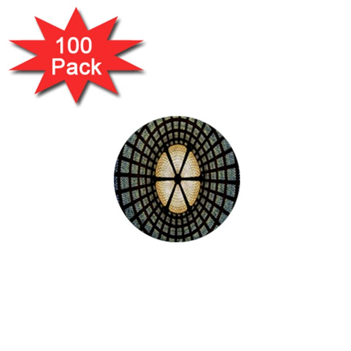 Stained Glass Colorful Glass 1  Mini Buttons (100 pack)