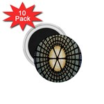 Stained Glass Colorful Glass 1.75  Magnets (10 pack)  Front