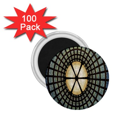 Stained Glass Colorful Glass 1.75  Magnets (100 pack)