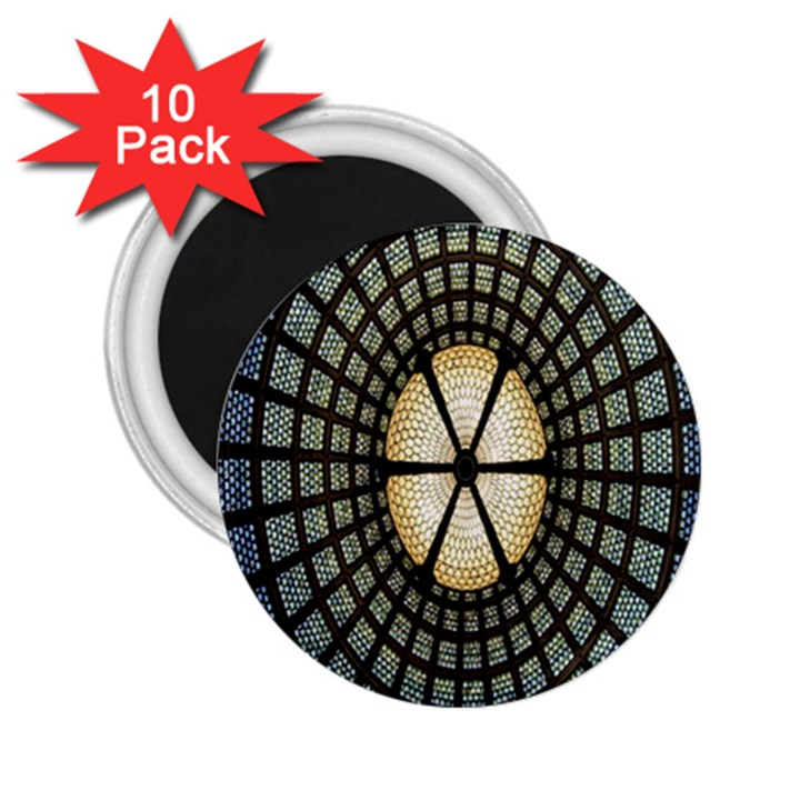 Stained Glass Colorful Glass 2.25  Magnets (10 pack)