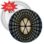 Stained Glass Colorful Glass 3  Buttons (10 pack)  Front