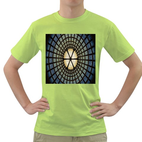 Stained Glass Colorful Glass Green T-Shirt