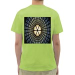 Stained Glass Colorful Glass Green T-Shirt Back