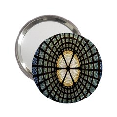 Stained Glass Colorful Glass 2.25  Handbag Mirrors