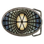 Stained Glass Colorful Glass Belt Buckles Front