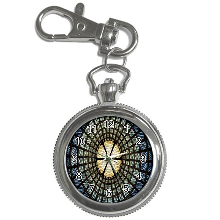 Stained Glass Colorful Glass Key Chain Watches